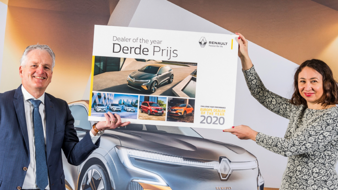 ABD Renault - derde plaats Renault dealer of the year